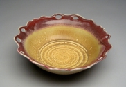 bowl with red rim