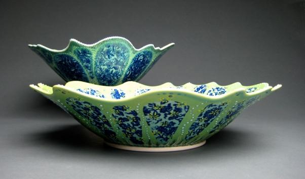 petal bowls - exterior view