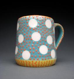 orange & blue mug