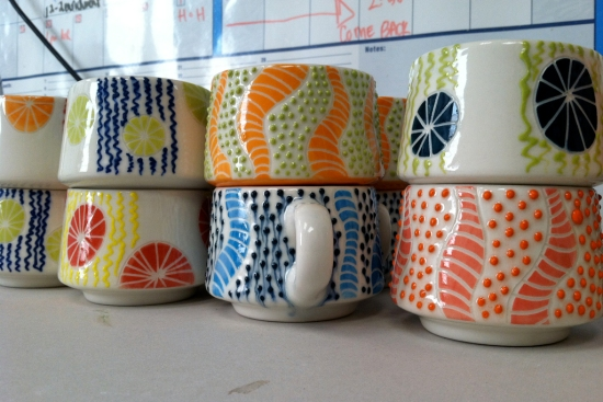 mid-century modern cups