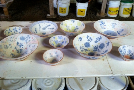 'shed bowls pre-glaze